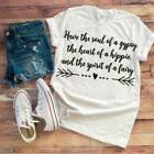 Soul of a Gypsy Women's White T-shirt / Iron-on Vinyl Transfer / Funny Shirts /