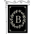 Welcome English alphabet letters Garden Flag Double-sided House Decor Banner
