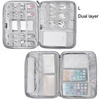 Travel Carry Case for iPad Tablet Phone Cables Earphones Power USB Organizer Bag