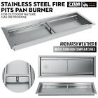 """Fire Pit Pan and Burner 20"""",24"""",25.5"""",31.5"""",37.5"""",49""""Stainless Steel Table-Top"""