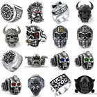 Fashion Women Men Vintage Gothic Punk Skull Ring Cool Men's Band Rings Jewelry image