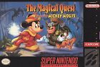 The Magical Quest Starring Mickey Mouse Super Nintendo Snes Cleaned &Tested