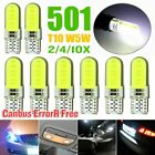 T10 501 W5w Car Side Light Bulbs Error Free Canbus Wedge Led Xenon 12v Hid White