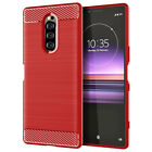 For Sony Xperia 1 10 XZ3 XZ4 L3 Hybrid Fiber Carbon Silicone Soft TPU Case Cover