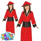 Kids Girls Boys Oriental Geisha Costume Chinese Fancy Dress Book Week Day Outfit