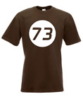 Herren T-Shirt 73 The Big Bang Therory TBBT Sheldon Lieblings-Zahl Größe bis 5XL