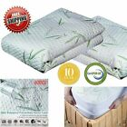 Mattress Protector Waterproof Bamboo Soft Hypoallergenic Fitted Pad Cover MA image