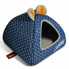 New Cute Dots Pet Dog Cat House Bed Tent Kennel Cushion Indoor House Size S,M,L