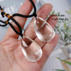 Natural Crystal Pendulum Quartz Stone Pendant Chakra Healing Gemstone Necklace