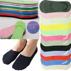 Womens GK Invisible Loafer No Show Nonslip Boat Solid Cotton Low Cut Socks 9-11