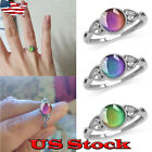 Women's Unique Temperature Color Changing Heart Shaped Mood Ring Creative Ring