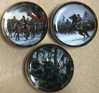 """BRADFORD EXCHANGE The Gallant Men of the Civil War Collection Plates 8"""""""