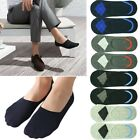 Mens GK Invisible Nonslip Loafer No Show Plain Argyle Cotton Boat Low Cut Socks