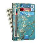 Mens RFID Blocking Leather Slim Wallet Money Clip Credit Card Slots Coin Holder