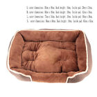 New Lounger Dog Bed Soft Washable Fleece Fur Cushion Warm Luxury Pet Basket