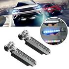 2 x Running Automatic Wind Power 8 LED Car Light Bike Motorcycle Fog Day Light