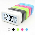 Digital LCD Snooze Electronic Alarm Clock with LED Backlight Light Control C4K7J