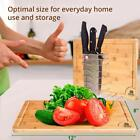 Organic Bamboo Cutting Board With Juice Groove Anti Microbial Heavy Duty Serving