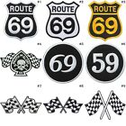 Checkered Flag 69 59 Rout Snooker Ball Muscle Car Biker Rock iron on patches #7 $2.85 USD on eBay