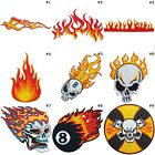 Skull Fire Flames Flaming Burn Hotrod Muscle Car Motorcycles Iron-On Patches #1 $2.85 USD on eBay