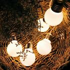 Solar Power Retro Bulb String Lights For Garden Outdoor Fairy Summer Lamp 20LED