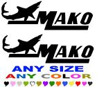 "MAKO MARINE BOAT stickers decals ""ANY COLOR"" ANY SIZE FISHING SKIING"