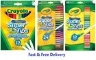 'Crayola Supertips Felt Tip Pens - Bright Washable Markers - Pack Of 12, 24 Or 50