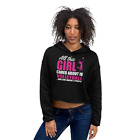 Women Girls Teen Volleyball Training Casual Crop Hoodie USA