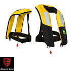Premium Reflective M-33 Manual Inflatable Life Jacket Vest PFD Fishing Kayak
