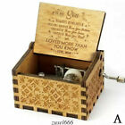 """US Wooden Music Box """"You Are My Sunshine"""" Engraved Musical Case Toys Kids Gifts"""