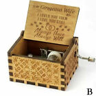 "US Wooden Music Box ""You Are My Sunshine"" Engraved Musical Case Toys Kids Gifts"