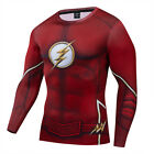 Superhero the Flash 3D Printed Mens Costume Cosplay Compression Fitness T-shirt image