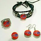 Buffalo Bills NFL Snap Jewelry snap, stretch Ring, Earrings or Bracelet $8.41 USD on eBay