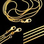 Wholesale Women Men 18K Gold Filled Snake Chain Necklace Gift 16-30 inches