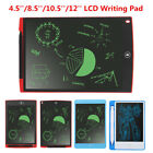 4.5/8.5/10.5/12'' Large LCD Graphics Tablet Writing Drawing Memo Board For Gift