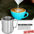 Stainless Steel Milk Frothing Pitcher 12oz/20oz Latte Art Coffee Jug Cup Tool US