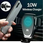 360° Qi Wireless Charger Fast Charging Car Mount Phone Holder Automatic Clamping