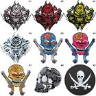 Skull Pirate Gun Biker Mexican Sugar Ghost Motorcycles Tattoo Iron-On Patches #2 $2.85 USD on eBay
