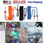 12mm Rope Rescue Rope Rock Climbing Rappelling Tree Arborist Cord W/Carabiner