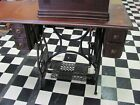 Enquirer Treadle Sewing Machine Cast Iron Table Steampunk - Selling in Pieces!!