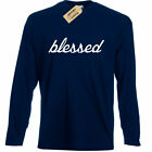 Blessed Graphic Tee Grateful Religious christian Long sleeve T Shirt top image