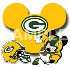 Disney Green Bay Packers personalized iron on transfer (choice of 1) $3.25 USD on eBay