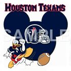 Disney Houston Texans personalized iron on transfer (choice of 1) $3.0 USD on eBay