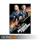 FAST AND FURIOUS HOBBS AND SHAW (ZZ072) MOVIE POSTER Poster Print Art A1 A2 A3