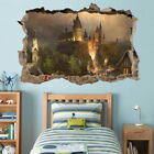 Hogwarts Castle Harry Potter 3D Hole Smashed Wall Sticker Decal Mural H327