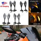 Rearview Mirrors Integrated LED Turn Signal for Kawasaki ZX-6R/636/6RR 1998-2006