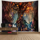 Forest Tree Tapestry Wall Hanging Mandala Bedspread Throw Home Decoration Au