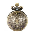 Retro Quartz Chain Round Pocket Watch Steampunk Metal Ball Necklace Pendant image