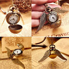 Ball Pocket Watch Pendant Steampunk Quidditch Wing Necklace New image