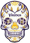 Minnesota Vikings Skull sublimation or color iron on transfer $3.25 USD on eBay